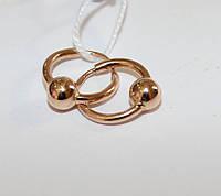 Детские золотые сережки-кольца Амина, фото 1