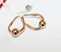 Серьги кольца детские в золоте Олеся, фото 1