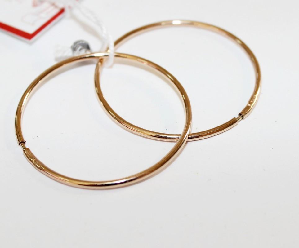 Золотые серьги-кольца Мелани