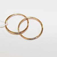 Золотые серьги-кольца Мелани, фото 1
