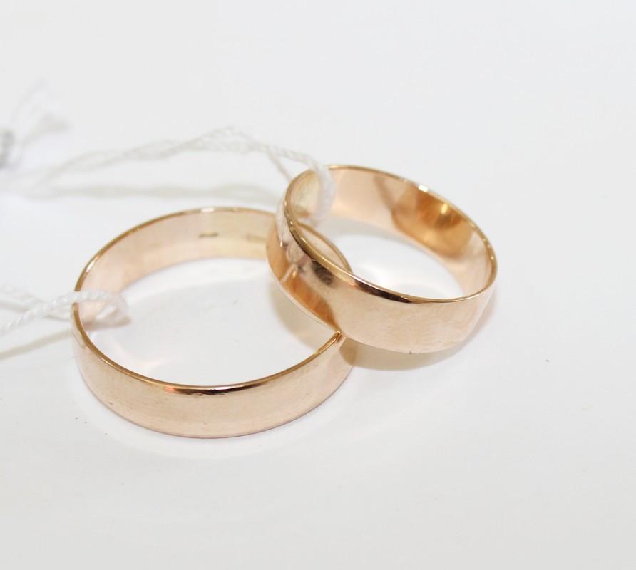 Обручальное золотое кольцо Американского стиля