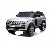 Электромобиль детский Land Rover Range Rover серебро