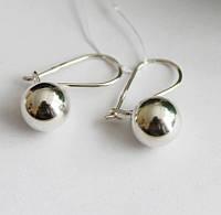 Серебряные сережки шар Сати, фото 1