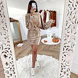 Женское вельветовое платье с поясом (в расцветках), фото 6