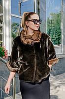 Куртка из норки blackglama с соболем Alessandro Bosso