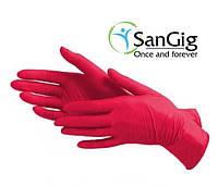 Красные (багровые) нитриловые перчатки Prestige Medical