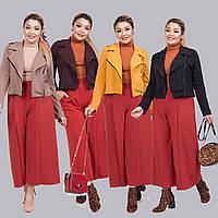Женский стильный костюм двойка (короткий пиджак и кюлоты) /разные цвета, 42-62, ST-56977/
