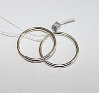 Серебряные серьги кольца Ø 1,6 Конго , фото 1