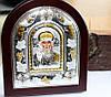 Серебряная икона с золотом Николай Чудотворец
