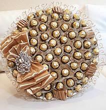Букет из конфет  Большой  Ferrero Rocher / конфетный букет / элитный подарок Королевская роскошь XL