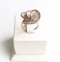 Позолоченое колечко с эмалью Аленький Цветочек, фото 1