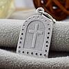 Серебряная иконка Св. Миколай размер 24х13 мм вес 1.55 г вставка белые фианиты, фото 3
