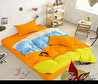 Комплект постельного белья Евро Color mix APT047 ТМ TAG Evro, постельное белье евро