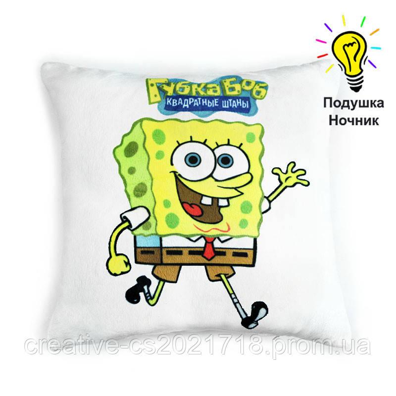 """Светящаяся подушка """"Sponge Bob"""" (Губка Боб)"""