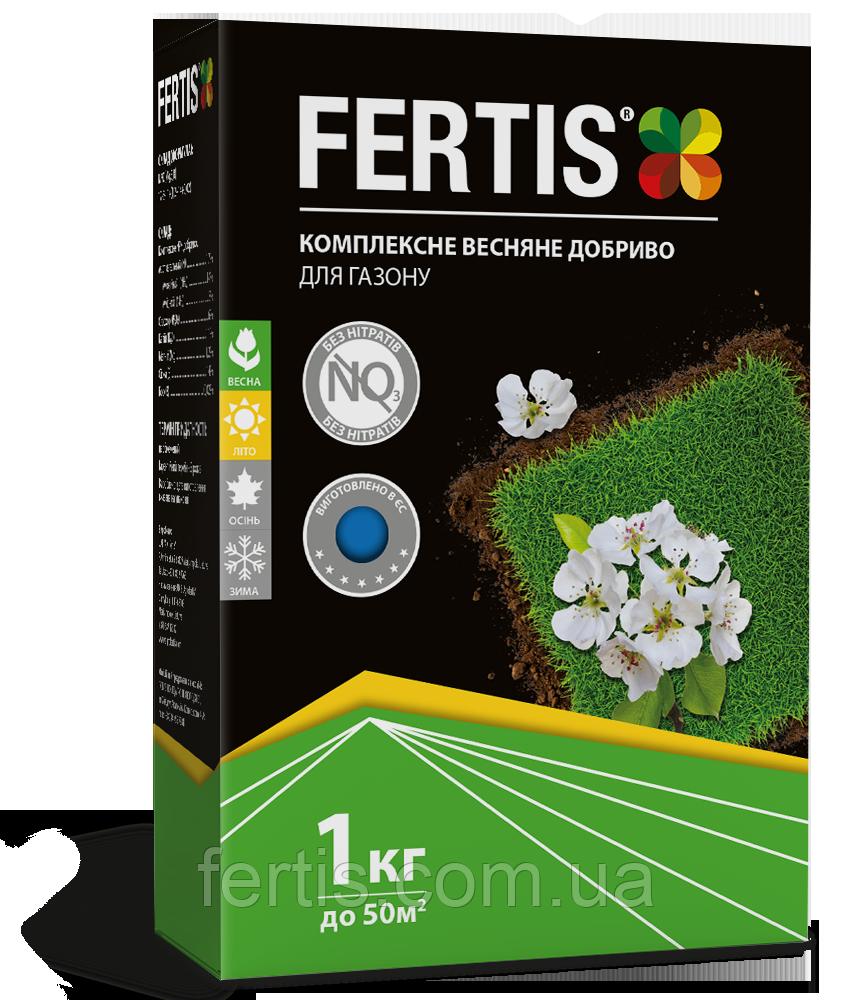 Весняне добриво для газону Fertis, без хлору та нітратів, 1 кг