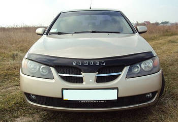 Дефлектор капота (мухобойка) Nissan Almera (N16) 2000-2006