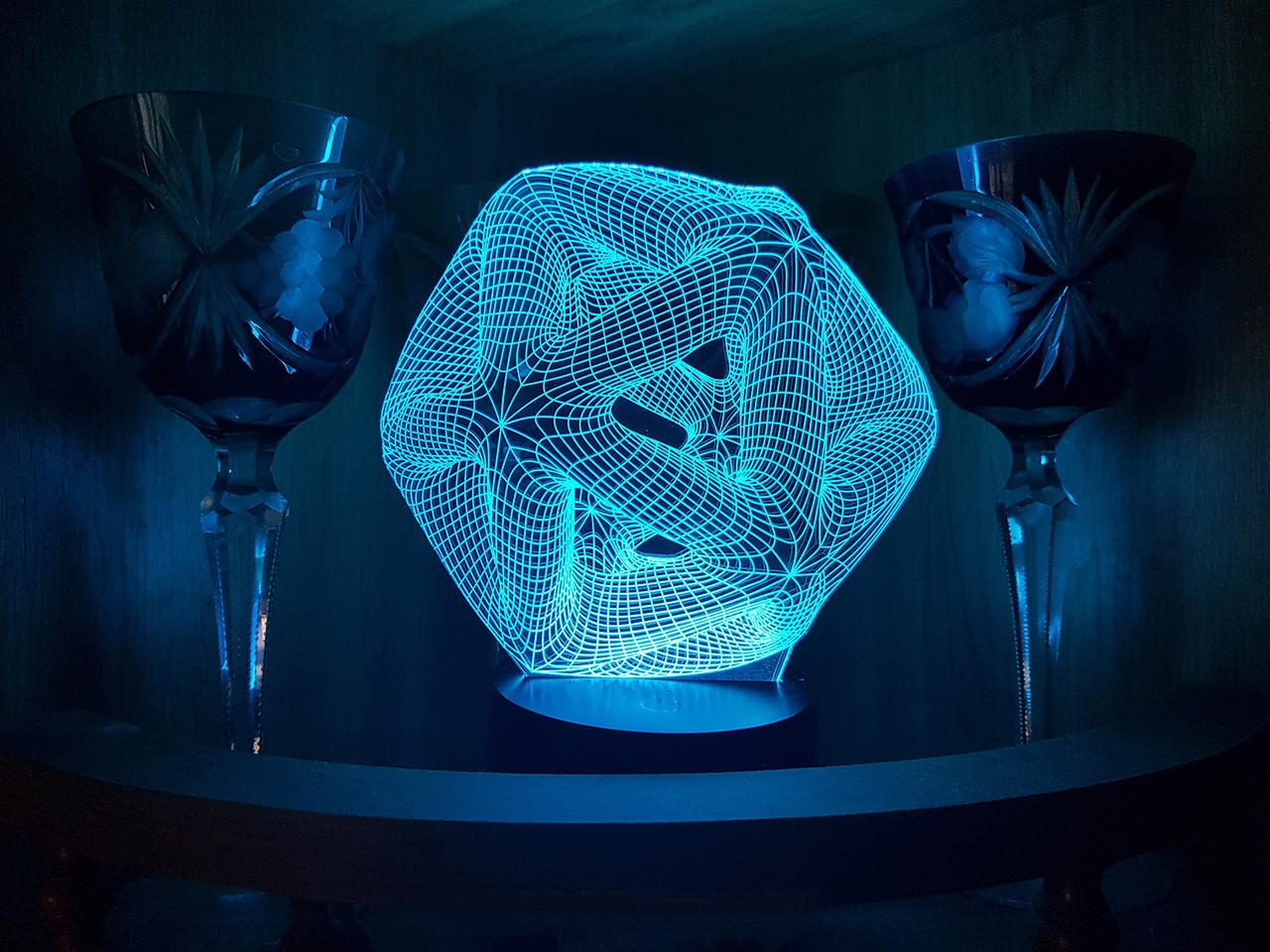 "3D светильник ночник ""Икосаэдр"""