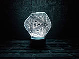 "3D светильник ночник ""Икосаэдр"", фото 2"