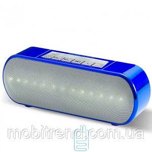 Портативная колонка WSTER WS-2513BT LED синяя
