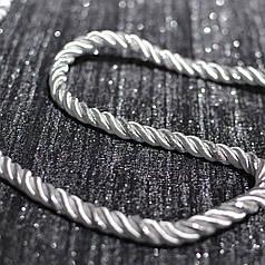 Декоративный шнур для натяжных потолков, серое серебро, 11 мм