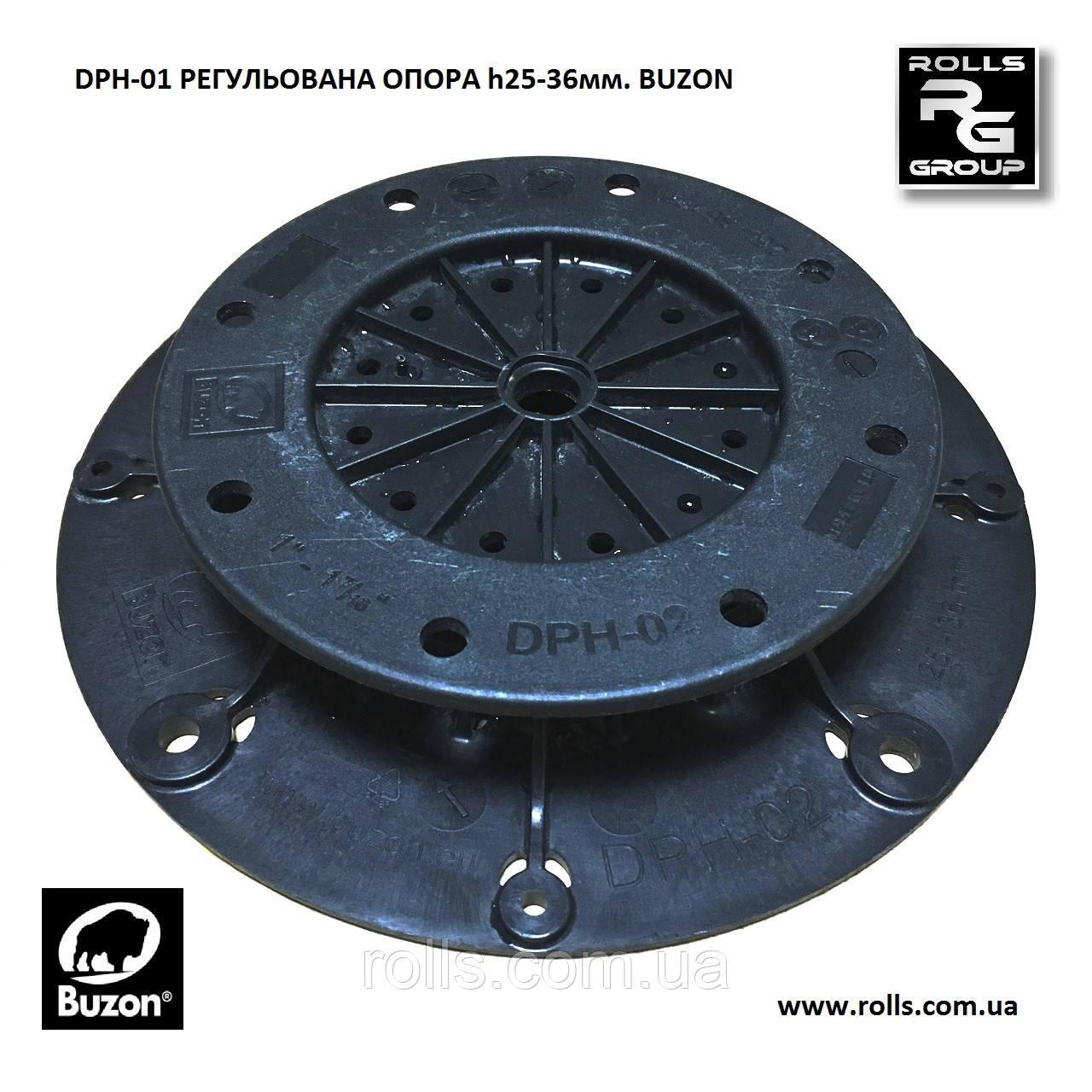 DPH-02-PH5 Buzon 33-44мм. Винтовая регулируемая опора со встроенным корректором угла наклона поверхности 0-5%