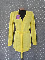 Кардиган ажурная вязка № 7190 - желтый, фото 1
