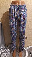 Тонкие штаны пижамного стиля в мелкий цветочек