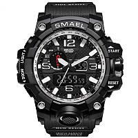 Мужские Наручные Часы Спортивные SMAEL (1545-2) Черные