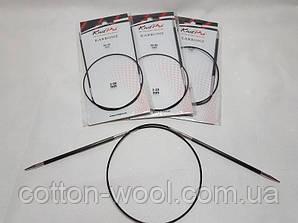Спиці кругові 60 см Karbonz KnitPro (Карбон КнітПро)  4.0 мм