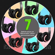 Бездротові Bluetooth-навушники Cat Ear ZW-19 котячі вушка LED підсвічування Зелені, фото 2