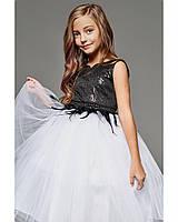 """Пышное платье для подростков, """"Черно-белый лебедь"""""""