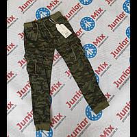Подростковые камуфляжные котоновые брюки для мальчиков  оптом GRACE