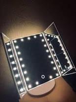 Зеркало для макияжа с LED подсветкой Superstar тройное ( настольное зеркало ), фото 3