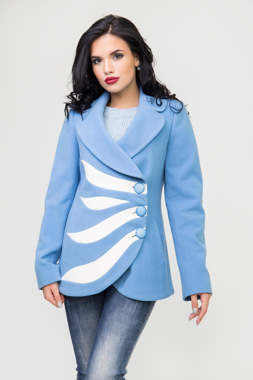 Пальто 2-226 Небесно-голубой