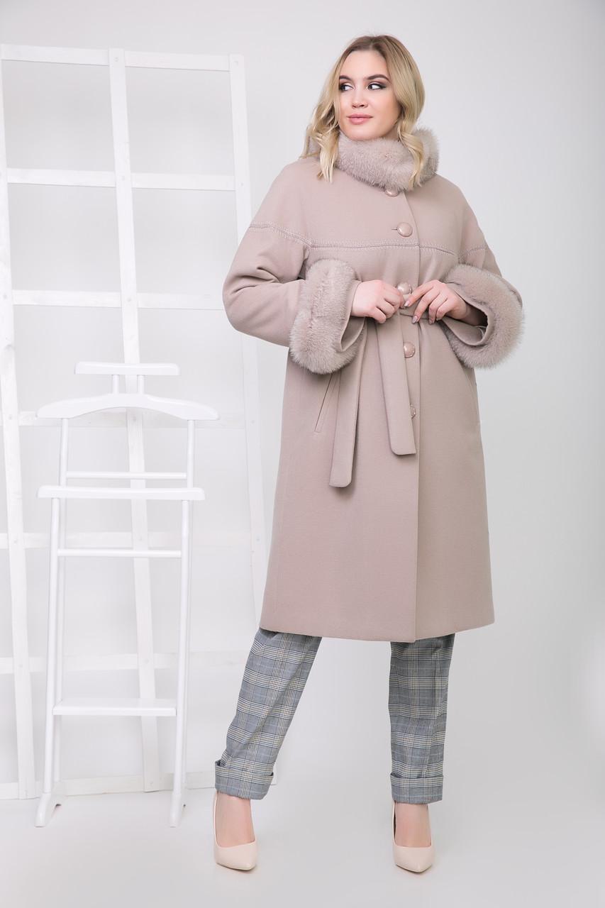 Пальто 1-071 Бежевый
