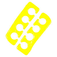Разделитель для пальцев ног силиконовый, пара, желтый