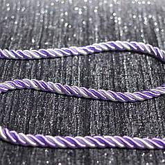 Декоративный шнур для натяжных потолков, сирень белый , 11 мм
