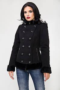 Пальто 1-003 Черный