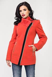 Пальто 1-077 Червоное золото