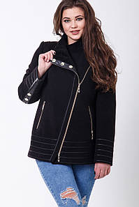 Пальто 1-077 Черный