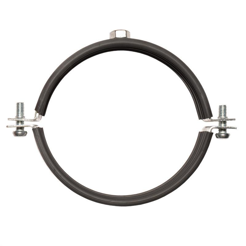 """Обойма для труб стальная с виброгасителем, хомут 59-66 мм (2"""")"""