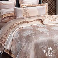 Комплект постельного белья сатин жаккард Tiare  - Двуспальный Евро (1922)