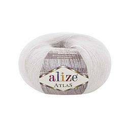 Пряжа Alize Atlas Атлас, №55, белый