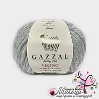 Пряжа Викинг Viking Gazzal, №4011, св. серый