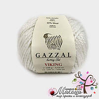 Пряжа Викинг Viking Gazzal, №4009, белый