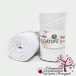 Хлопковый шнур Maccaroni Cotton Filled 5 мм, №17001, белый