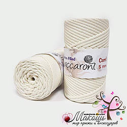 Хлопковый шнур Maccaroni Cotton Filled 5 мм, №17002, молочный