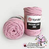 Шнур Macrame Cord 3 мм YarnArt, 762, розовый