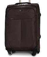 Большой тканевый чемодан Fly 1807-4 на 4 колесах коричневый