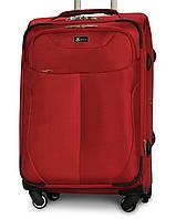 Большой тканевый чемодан Fly 1807-4 на 4 колесах красный